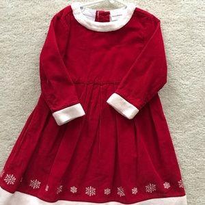 Girls Hanna Anderson snowflake dress size 100